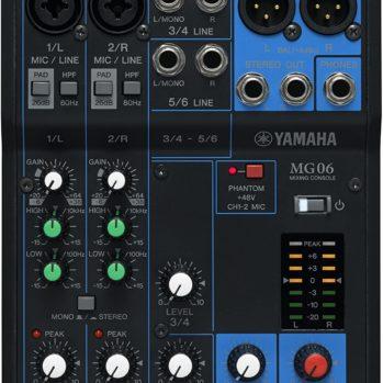 MG06 - YAMAHA Console de mixage analogique 6 canaux