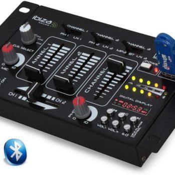 DJ 21 USB BT IBIZA Table de mixage, 4 voies, USB et Bluetooth