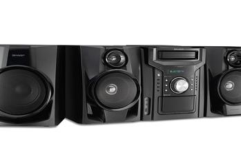 Sharp CD-BHS1050 5-Disc Mini, Système avec Cassette et Bluetooth, AM/FM Digital Tuner, Port USB