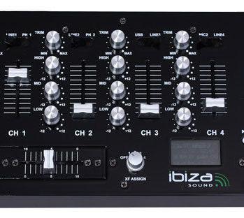 DJM-95 USB IBIZA Table de mixage 19'' avec USB et 6 entrées